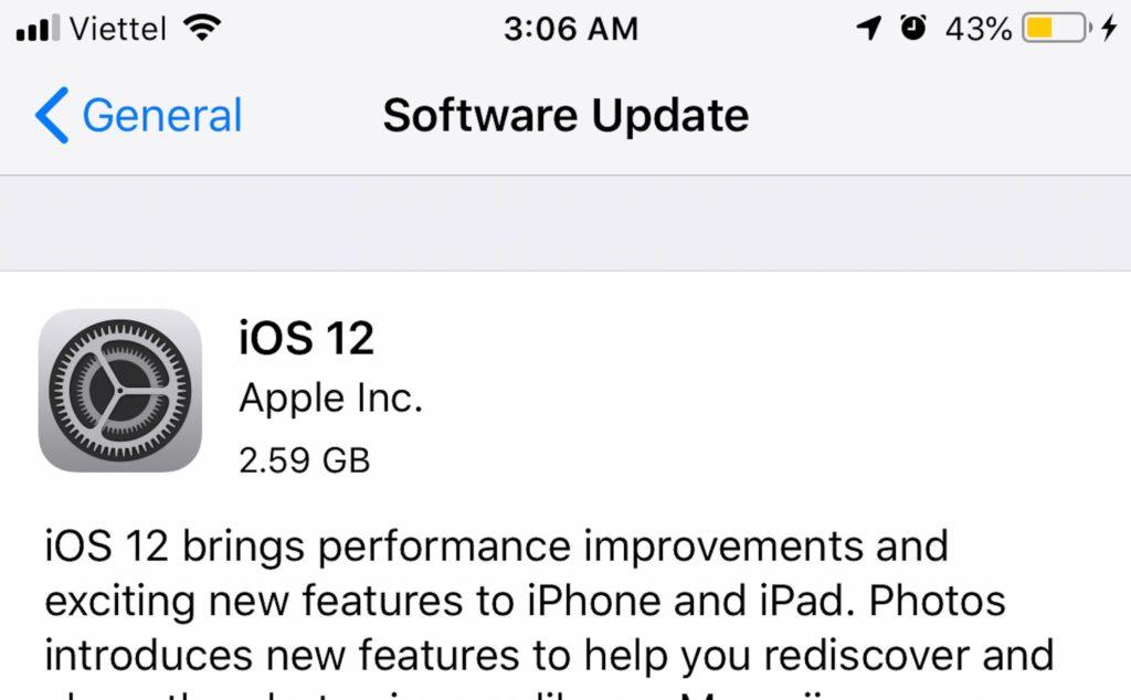 iOS 12 Golden Master