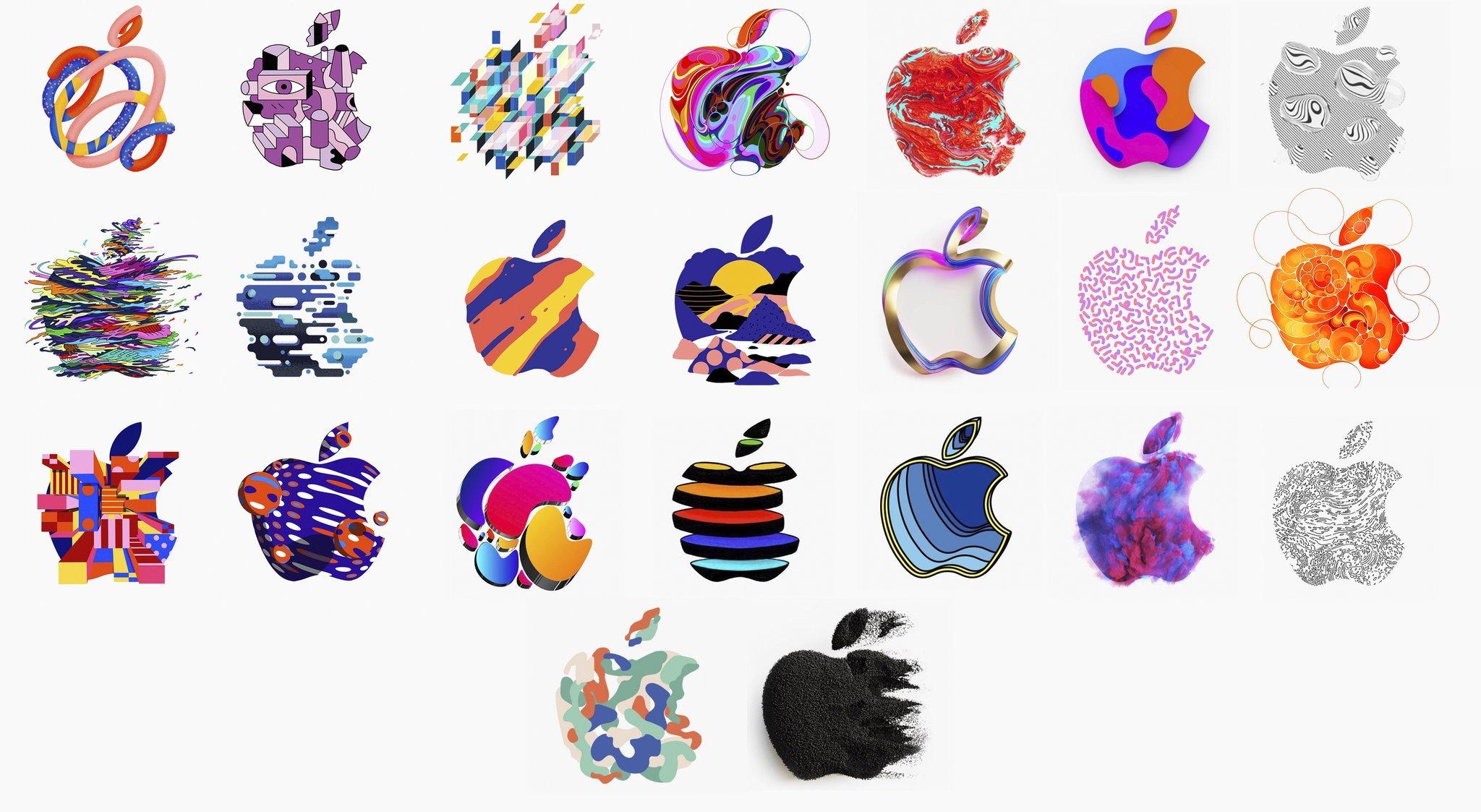 Логотипы Apple из приглашений на 30 октября