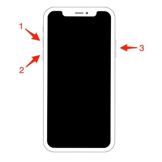 Перезагрузка iPhone XS