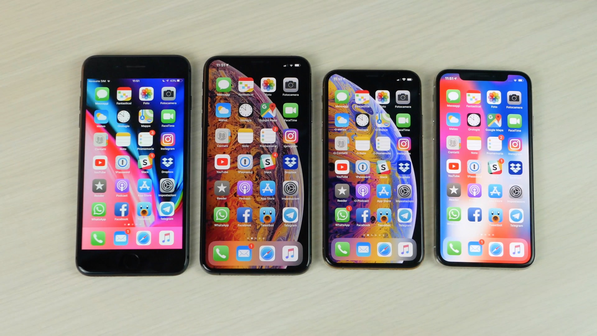 iPhone 8 Plus, iPhone Xs Max, iPhone Xs, iPhone X