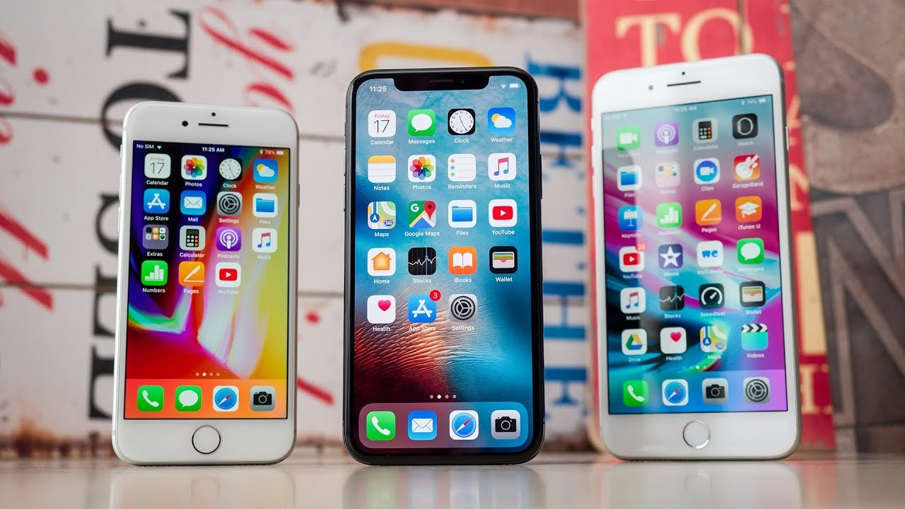 iPhone 8, iPhone X and iPhone 8 Plus