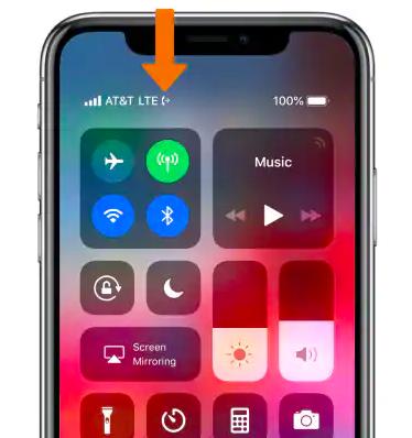 Значок переадресации на iPhone X