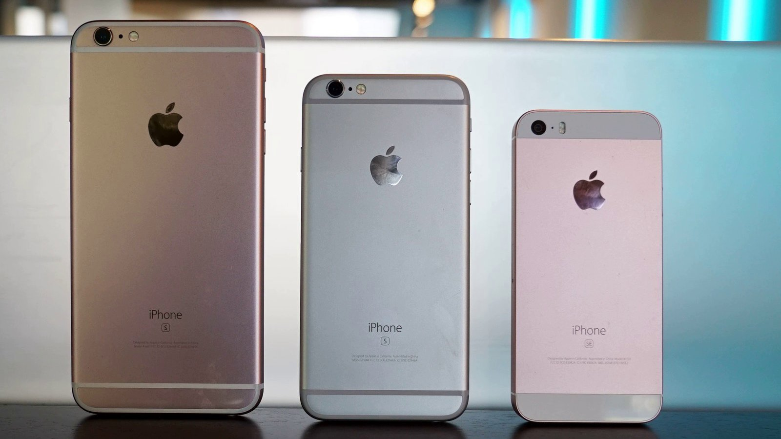 iPhone 6S Plus, iPhone 6S and iPhone SE