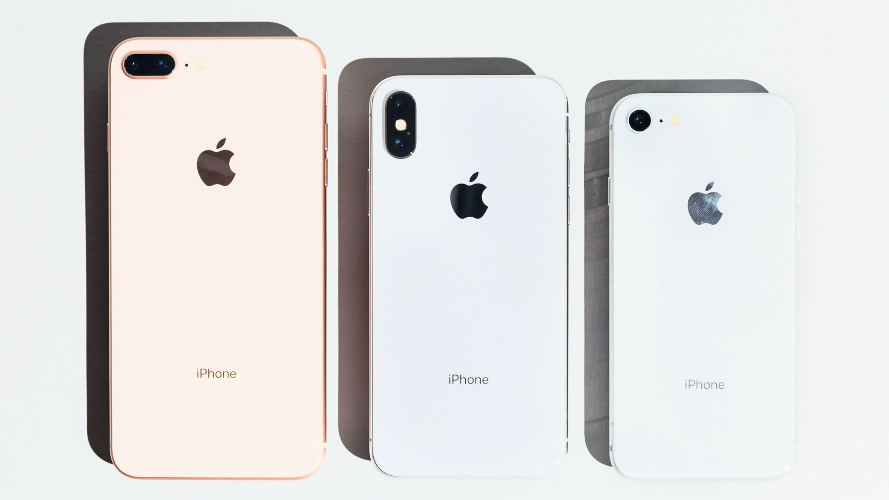 iPhone 8 Plus, iPhone X and iPhone 8