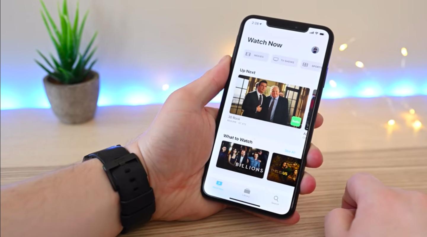 Новый интерфейс программы Apple TV