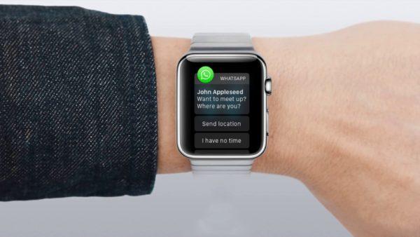 WhatsApp and Apple Watch