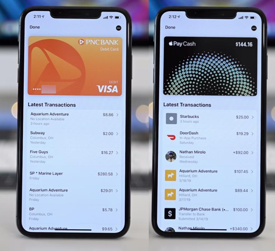 Обычная карта VS Apple Card