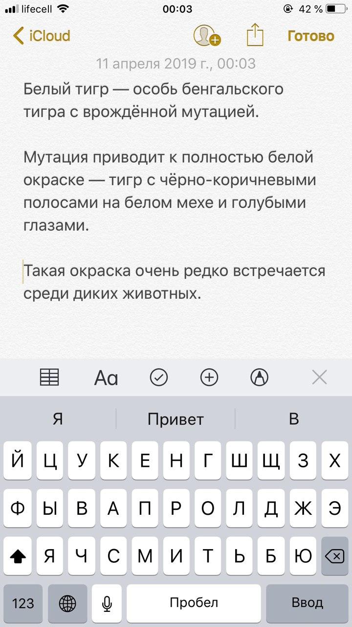 Пишем нужный текст