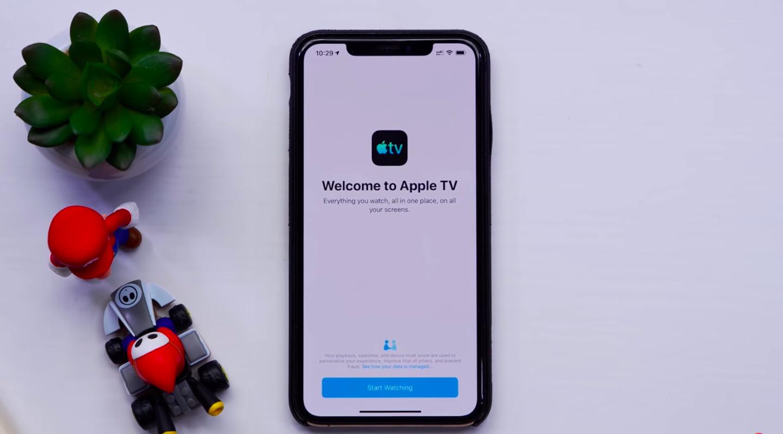 Новый стартовый экран в приложении Apple TV