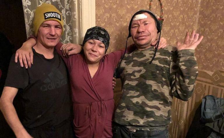 Слева направо: Безумный Паша, Дикая Иришка и Олег Монгол