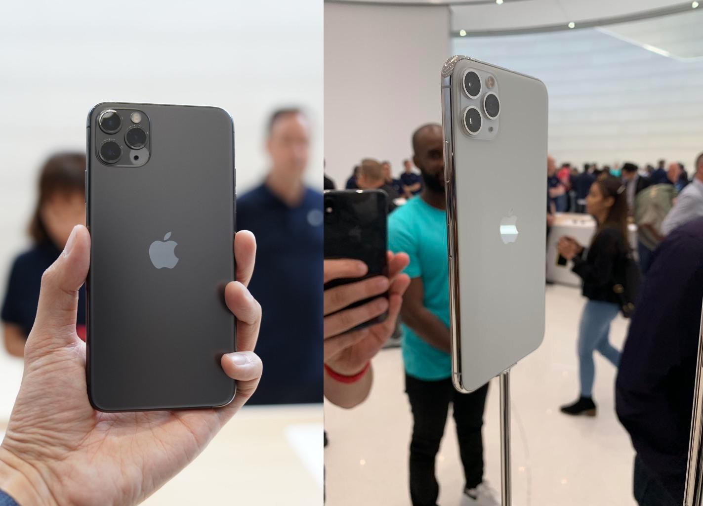 Чёрный и белый iPhone 11 Pro