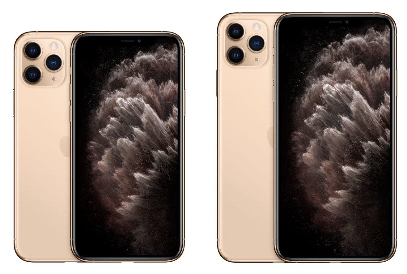 iPhone 11 Pro и iPhone 11 Pro Max в золотом