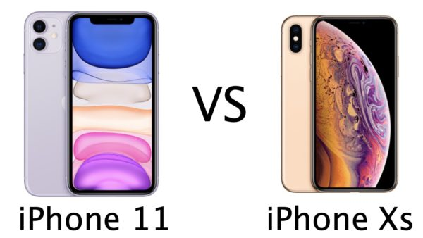 iPhone 11 vs iPhone Xs