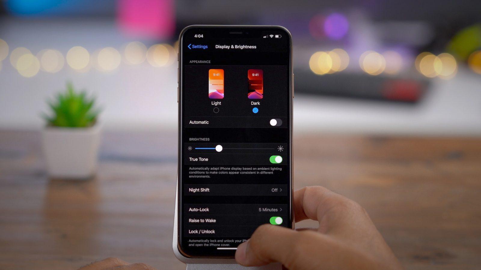 Тёмная тема на iOS 13