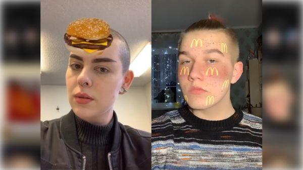 McDonald's Filter on Instagram
