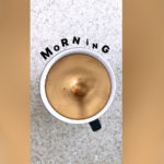 Кофе стикер с каплей для Инстаграм Сторис. Как сделать?