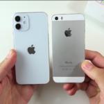 Сравнение размеров Айфон 12 мини с Айфон 5, 5S, СЕ
