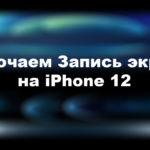 Как сделать запись экрана на Айфоне 12, 12 мини, 12 Про, 12 Про Макс?