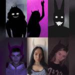 Маска тень демона в Инстаграм. Небольшая подборка