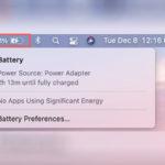 Как на macOS Big Sur установить заряд в процентах?